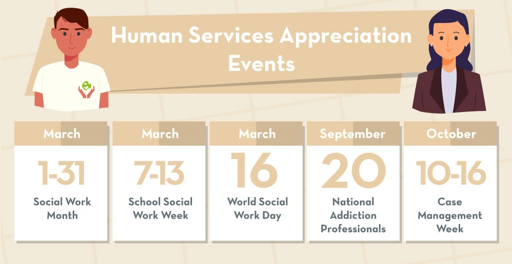 Human services appreciation days calendar