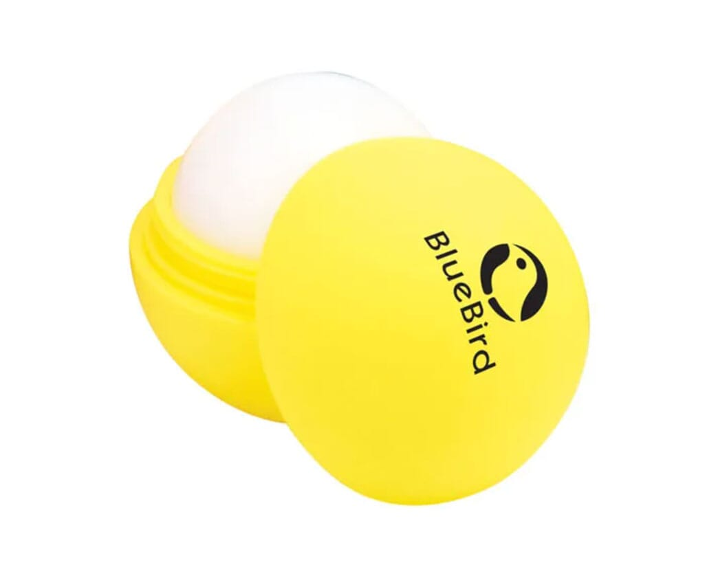 Rubber ball lip balm