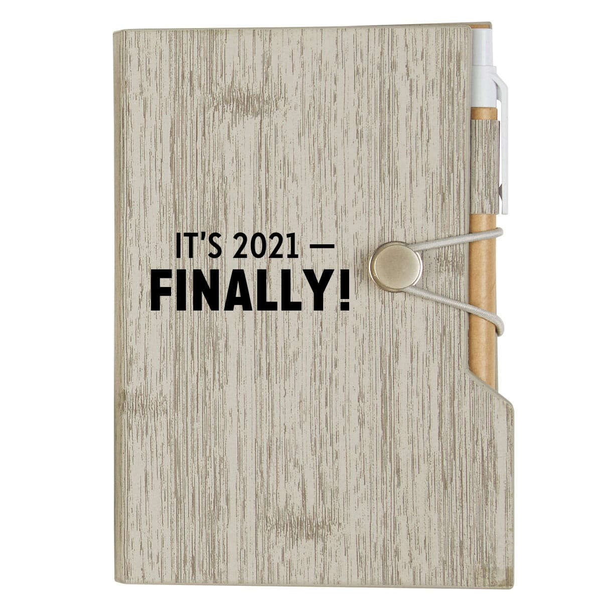 Notebook with funny new year saying