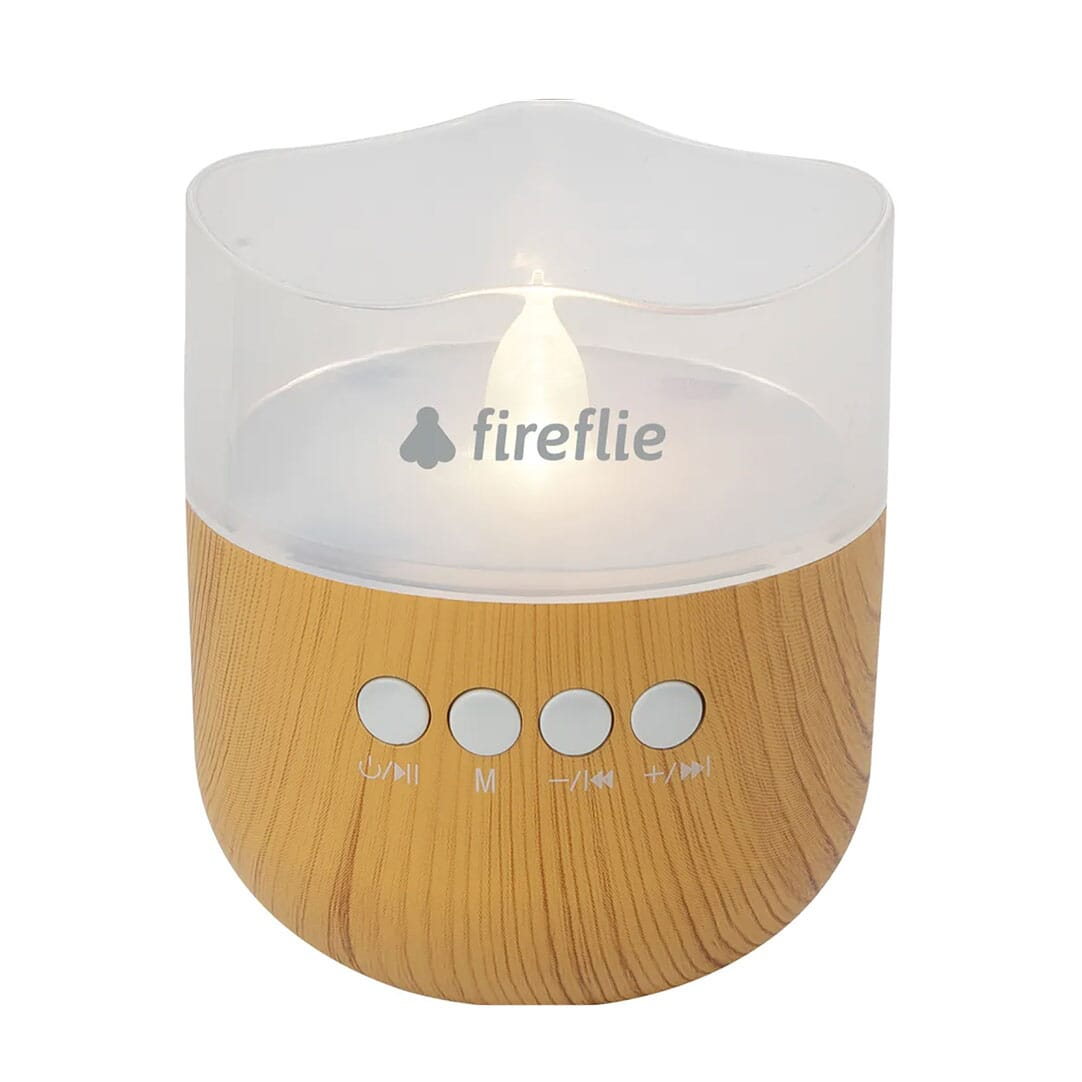 Bluetooth speaker with LED candle light