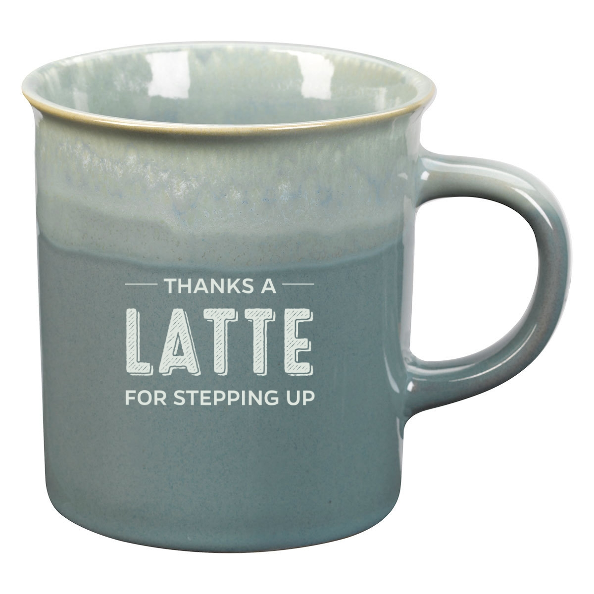 Coffee mug with volunteer appreciation logo