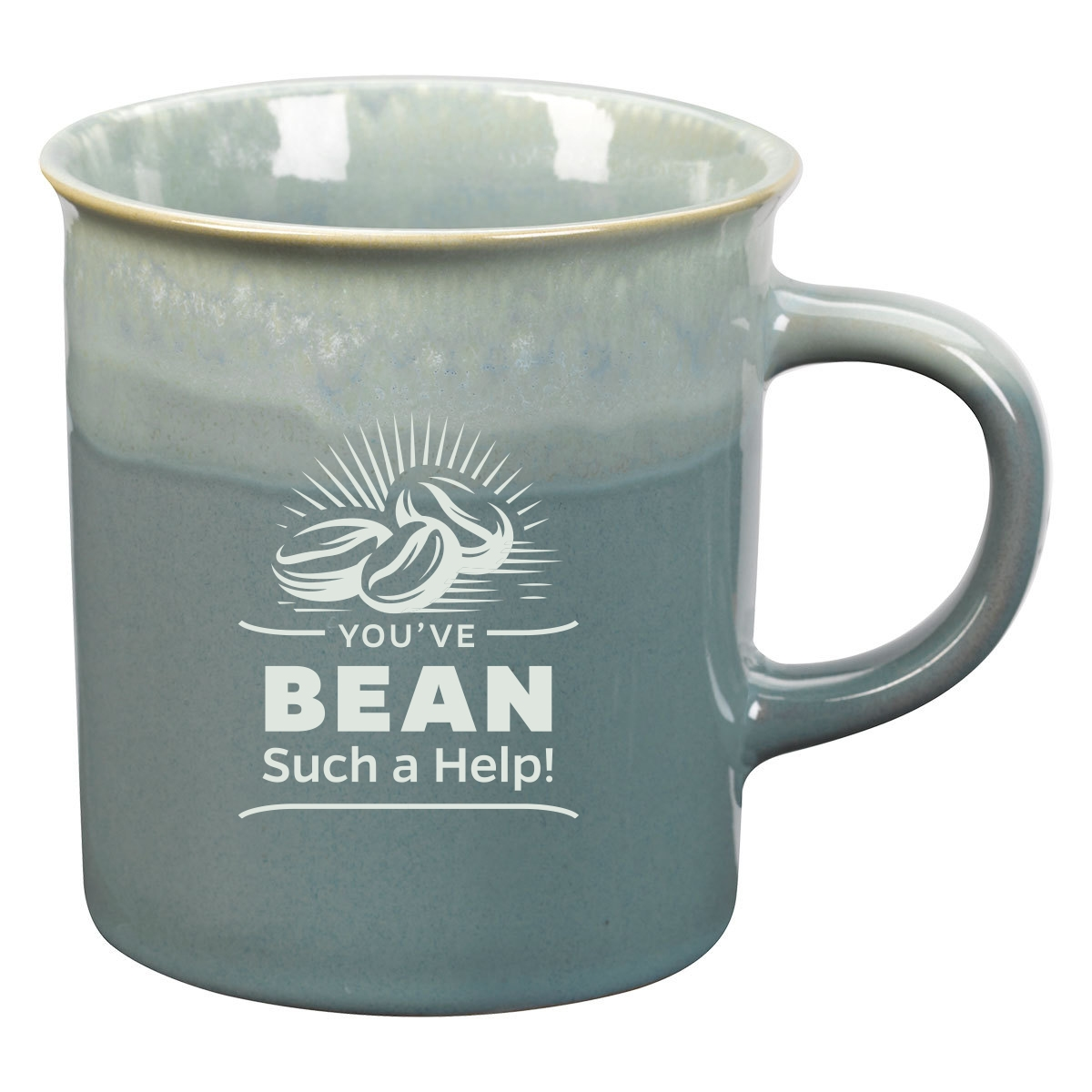 Coffee mug with appreciation logo