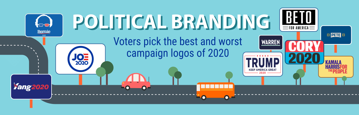 Voters Pick the Best and Worst Campaign Logos of 2020