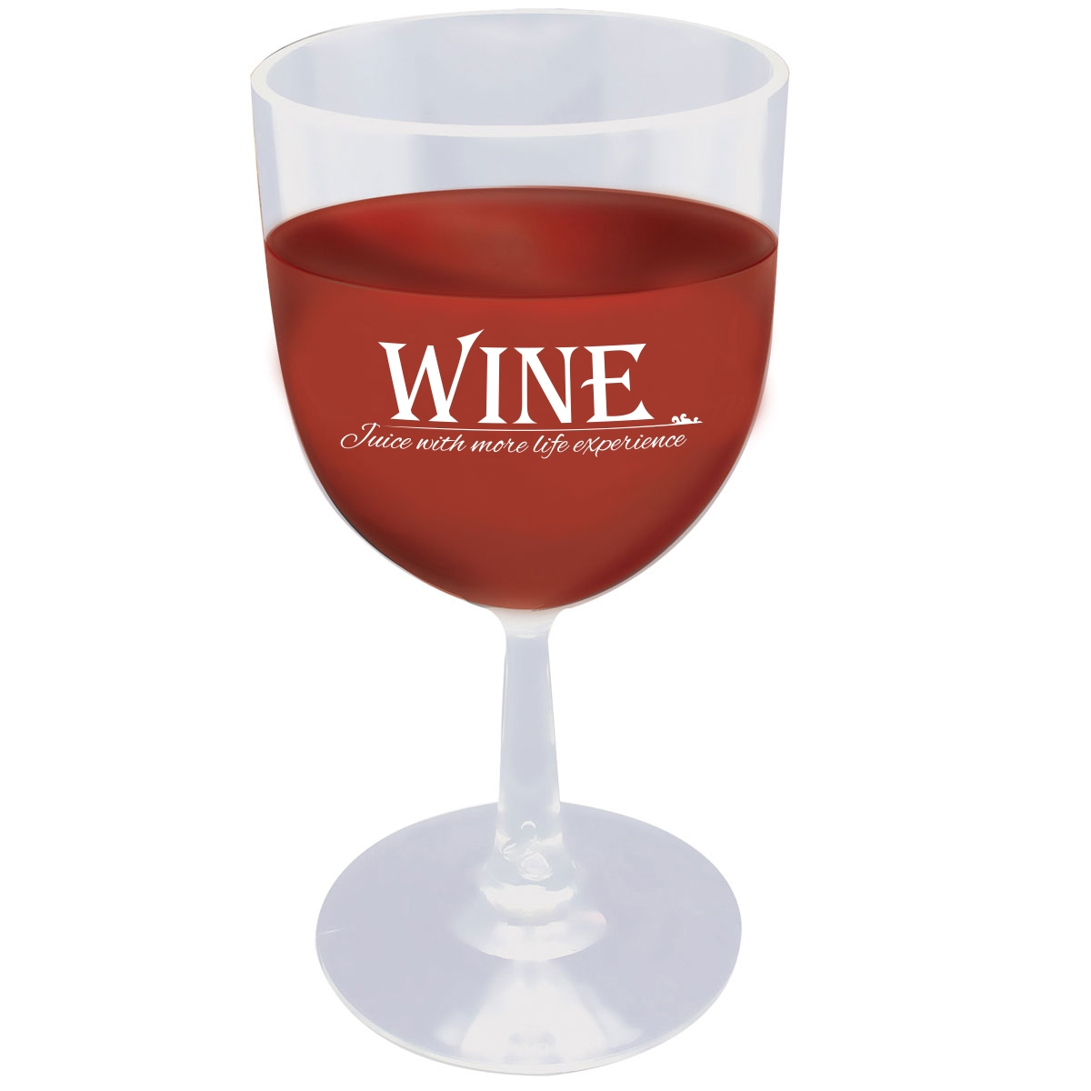 Plastic wine cup with funny saying