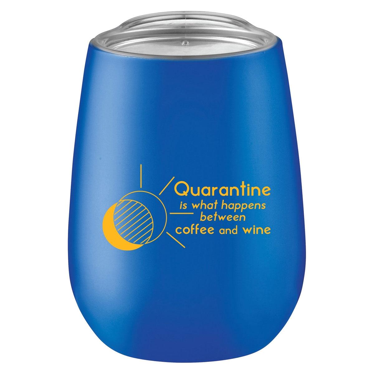 Funny quarantine quote on coffee mug