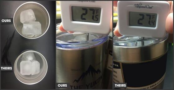 Testing Yukon and Popular Brand Tumbler