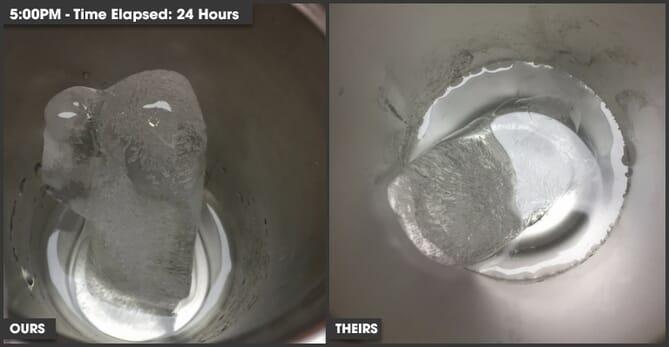 Custom tumbler keeps beverages cold over 24 hours