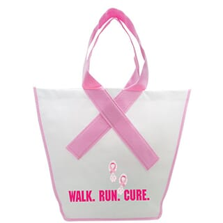 Breast Cancer Ribbon Tote Bag