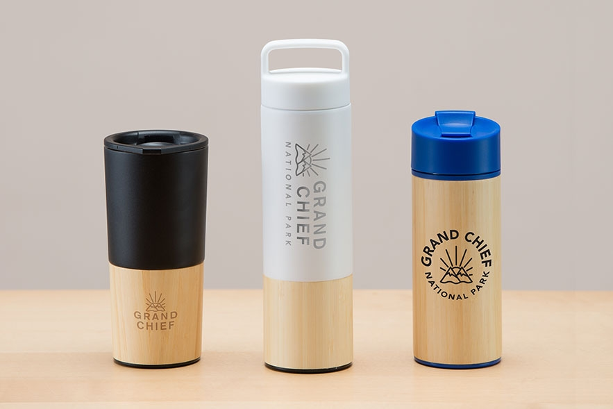 Welly water bottles made with sustainable bamboo