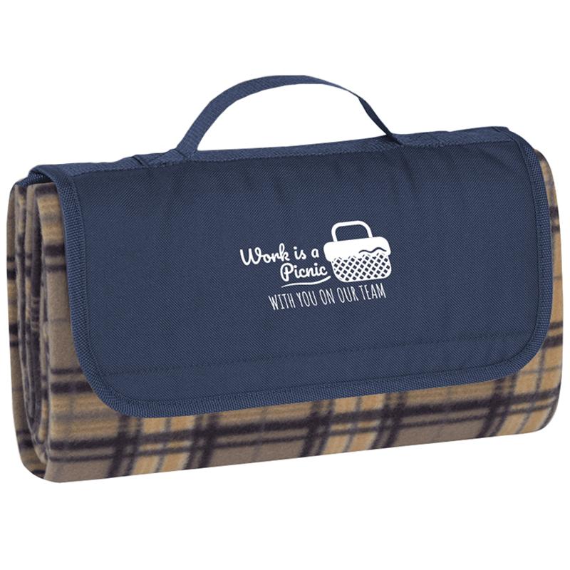 Travel Blanket with Employee Appreciation Slogan