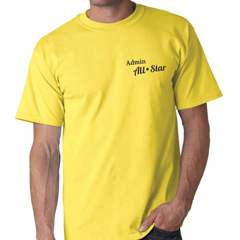 T-Shirt with Employee Appreciation Slogan