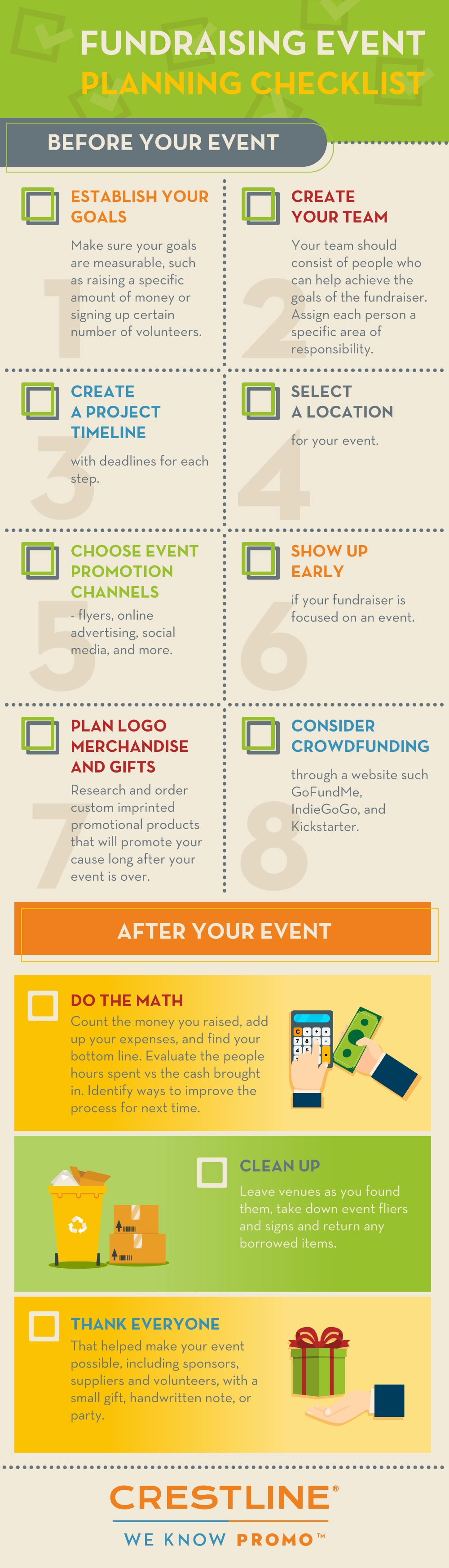 Fundraising Checklist Infographic