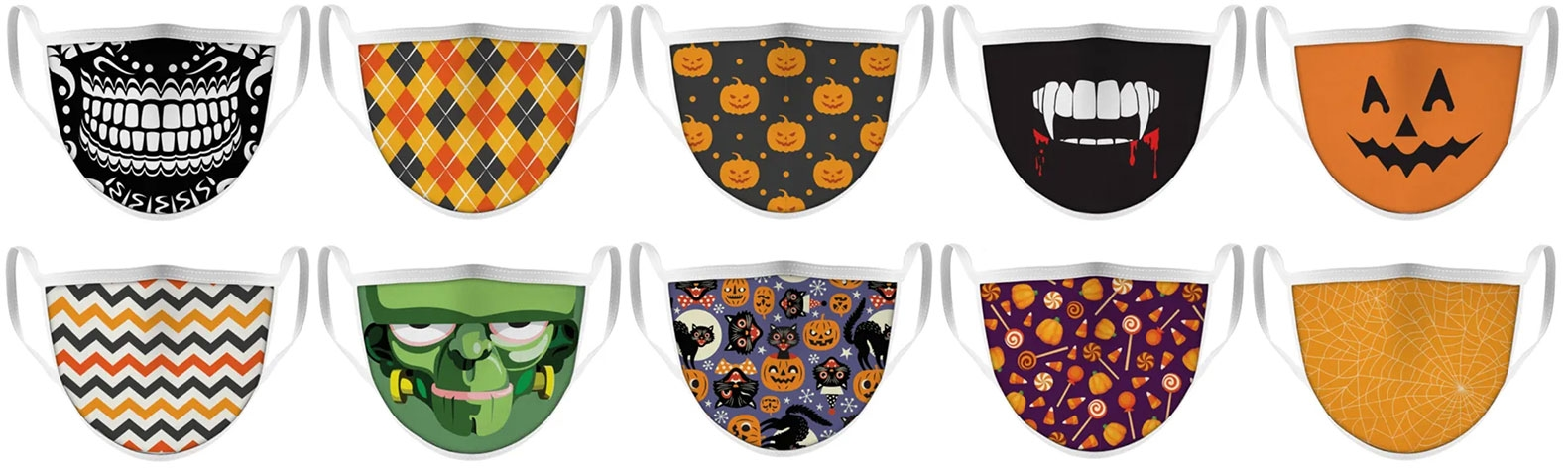 Face Masks with Halloween Designs