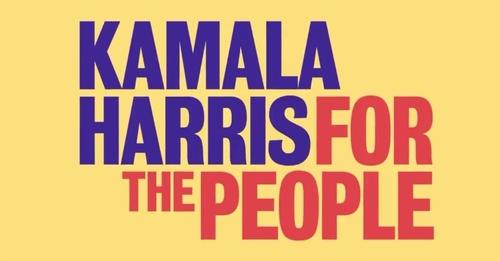 Kamala Harris Logo on Yellow Background