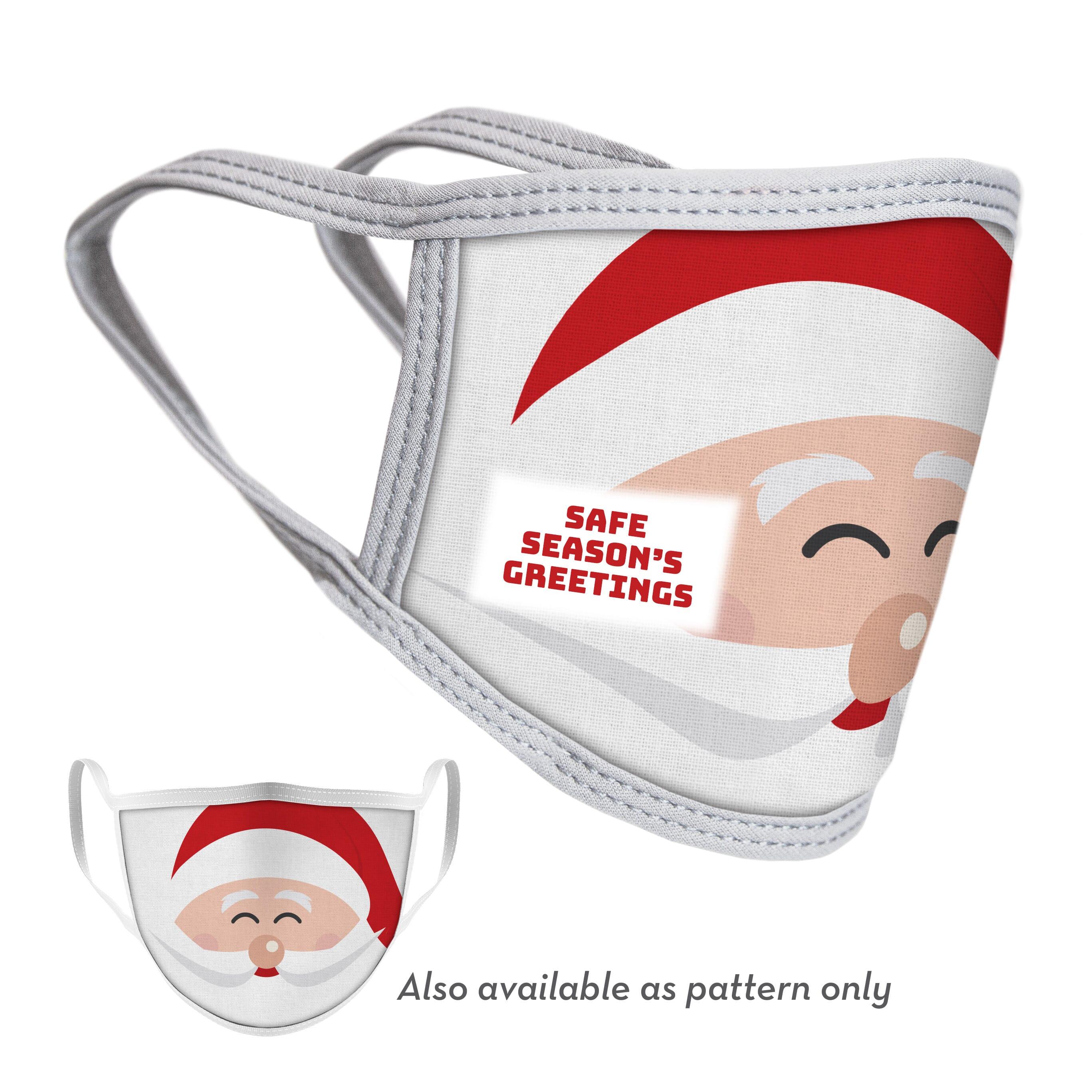 Christmas face mask with santa face