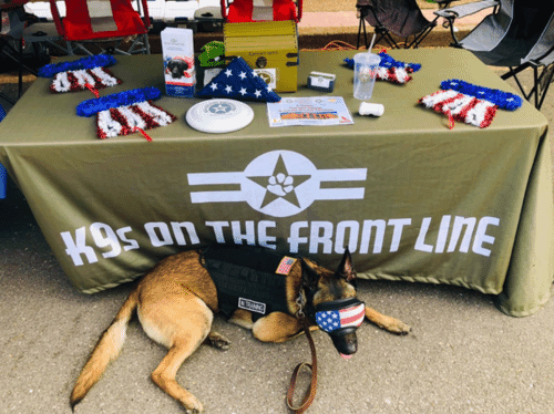 Service dog at K9s on the front line event