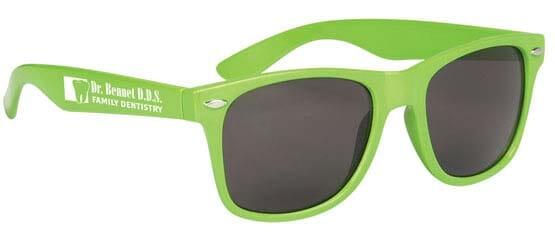 Neon green sunglasses