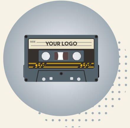 Cassette Shaped Bluetooh Speaker with Logo