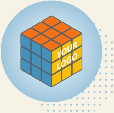 Rubiks Cub with Logo
