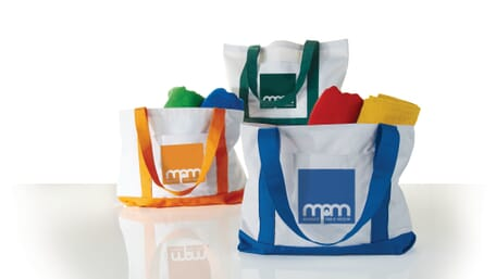 Canvas boat tote for employees