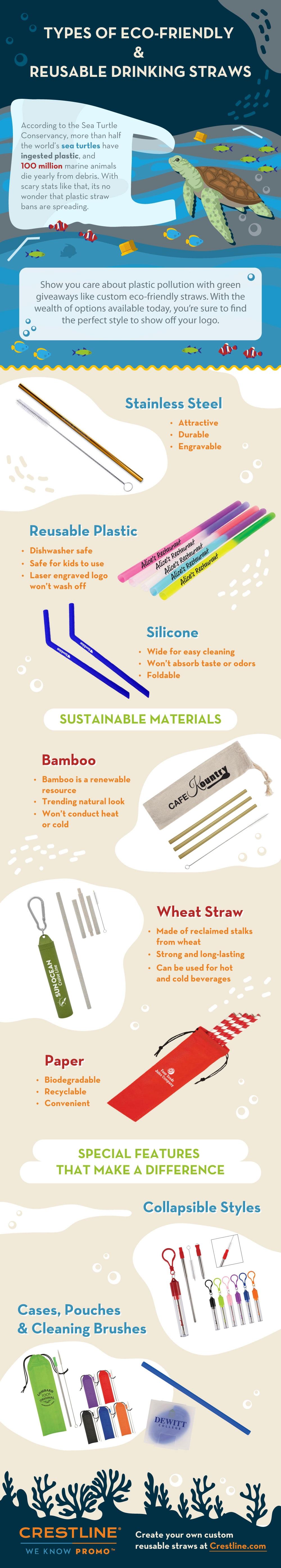 Reusable Straws Infographic