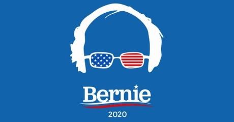 Bernie Sanders Logo with Silhouette