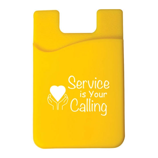 Phone pocket with volunteer appreciation logo