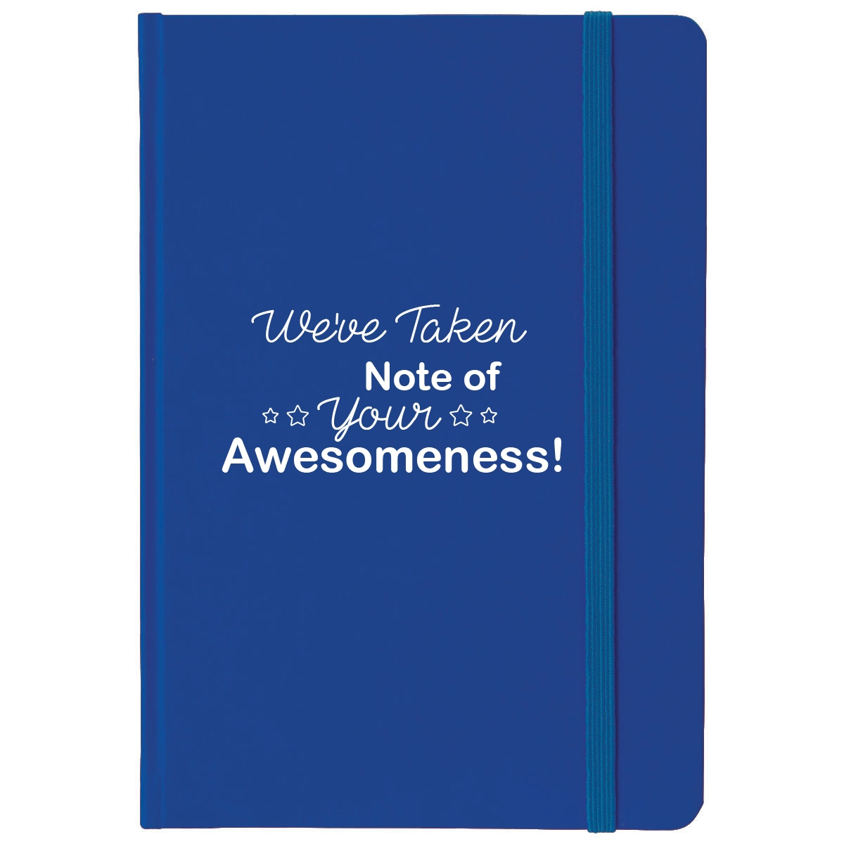 Blue notebook with teacher appreciation saying