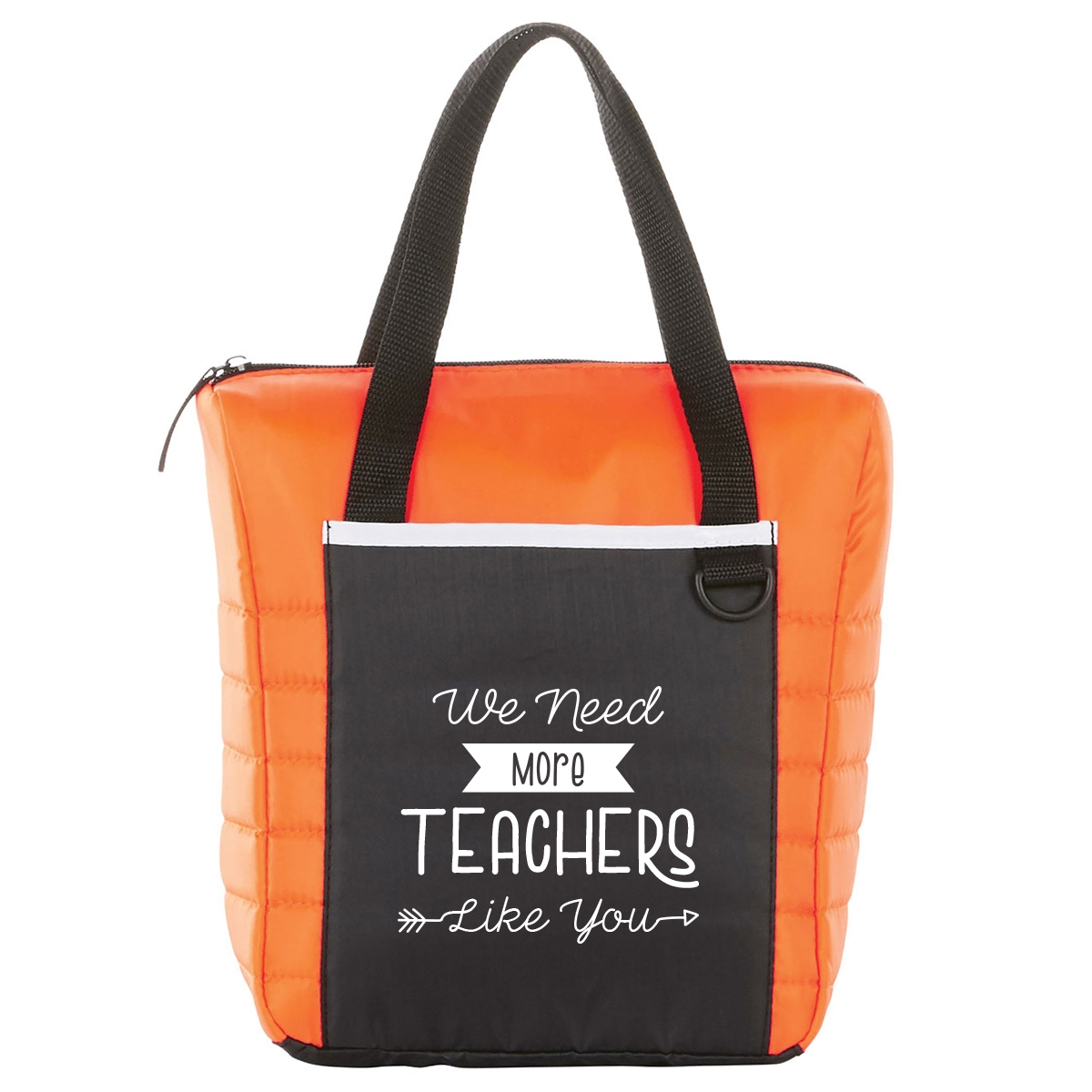 Quilted lunch cooler bag with teacher appreciation saying