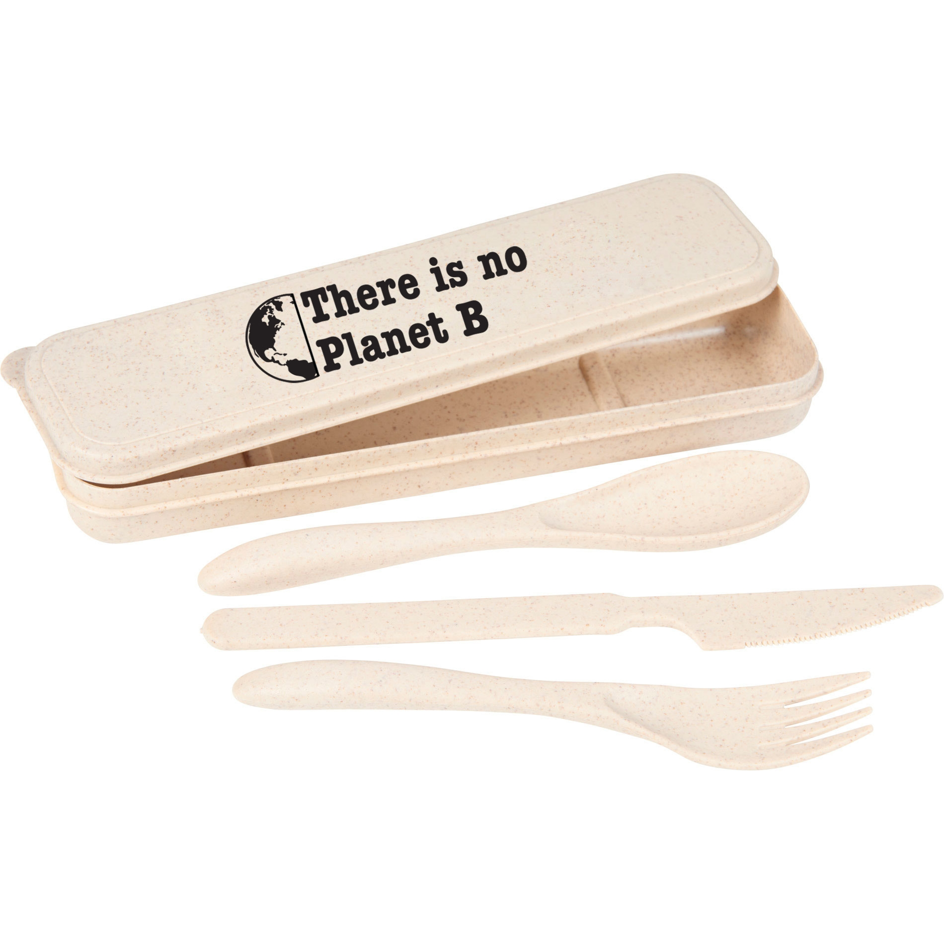 travel utensil set made of bamboo