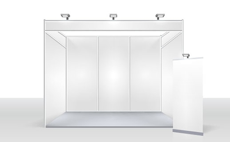 Example of a trade show inline booth