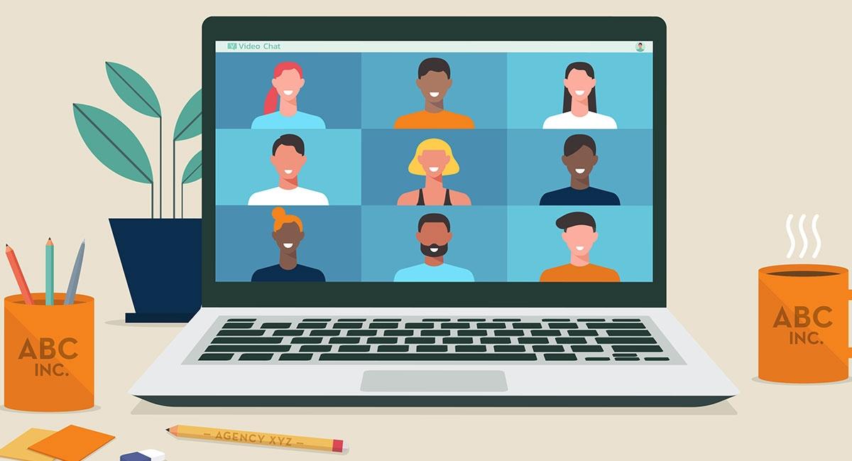 kegiatan tahun baru virtual meeting