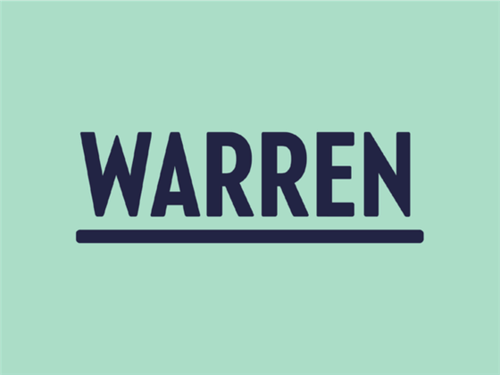 Elizabeth Warren Logo on light green background