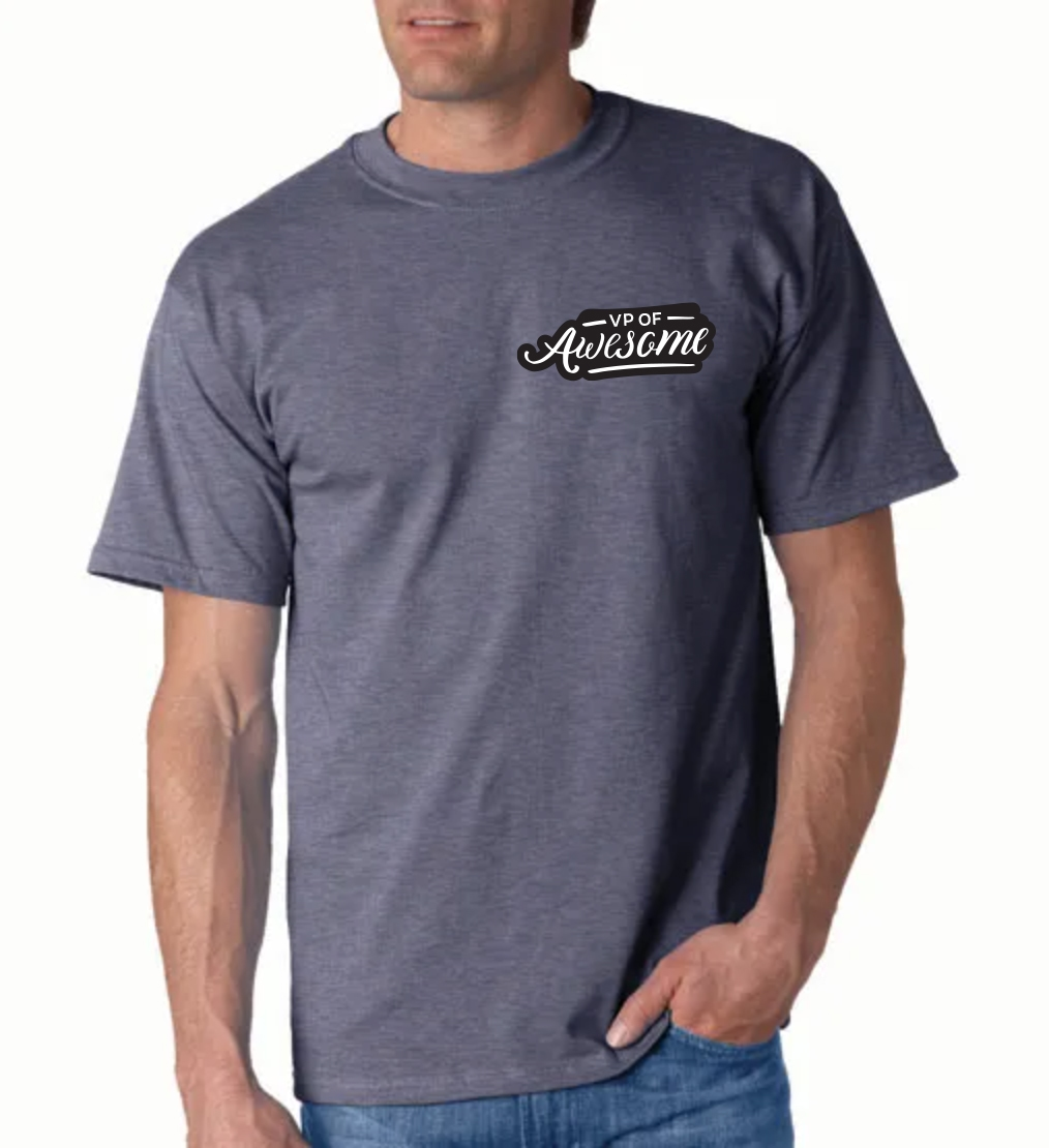Gray t-shirt with fun appreciation quote