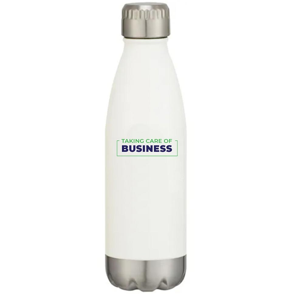 Insulated stainless steel bottle with appreciation saying