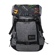 Heathered gray backpack tech friendly pocket