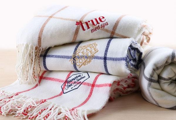 Soft plaid blanket