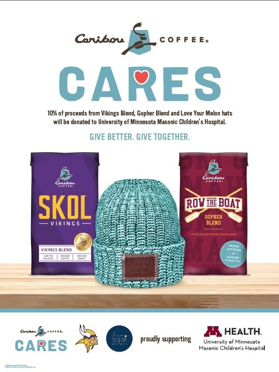 Caribou Coffee cares flyer