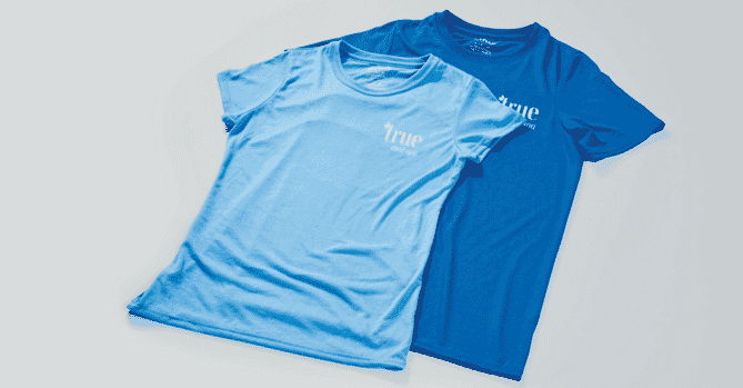 High-performance light-weight t-shirts