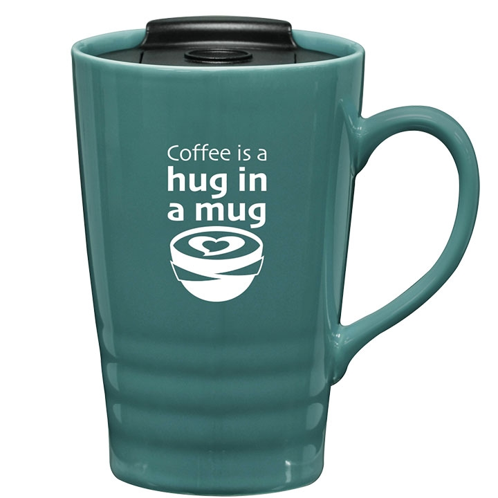 Coffee cup with lid and fun coffee saying