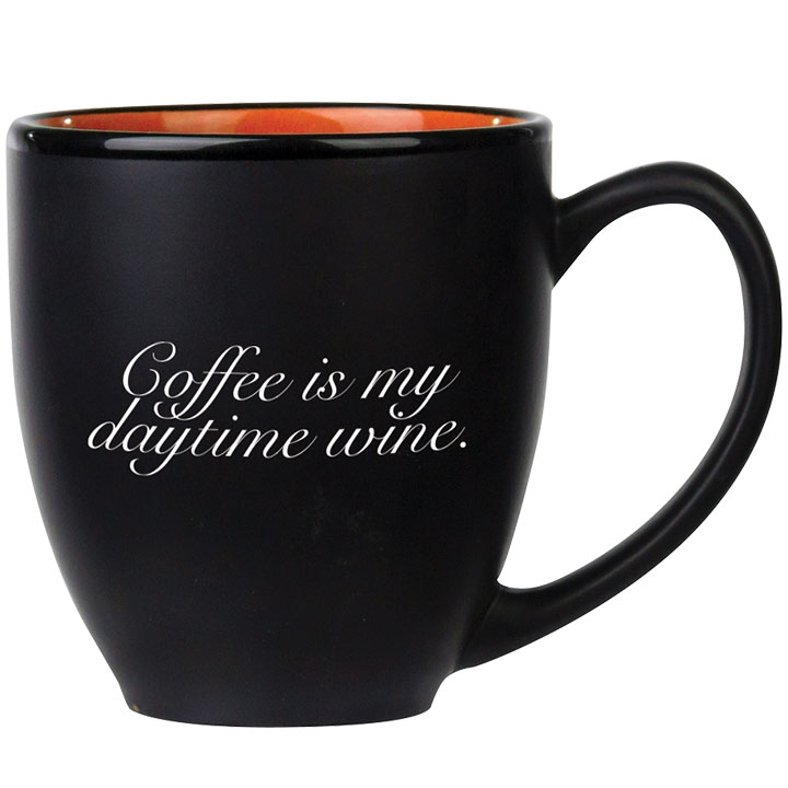 Large mug with funny coffee quote
