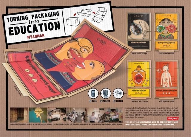 Colgate packaging education poster