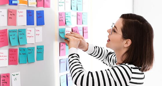 Business uses for sticky notes
