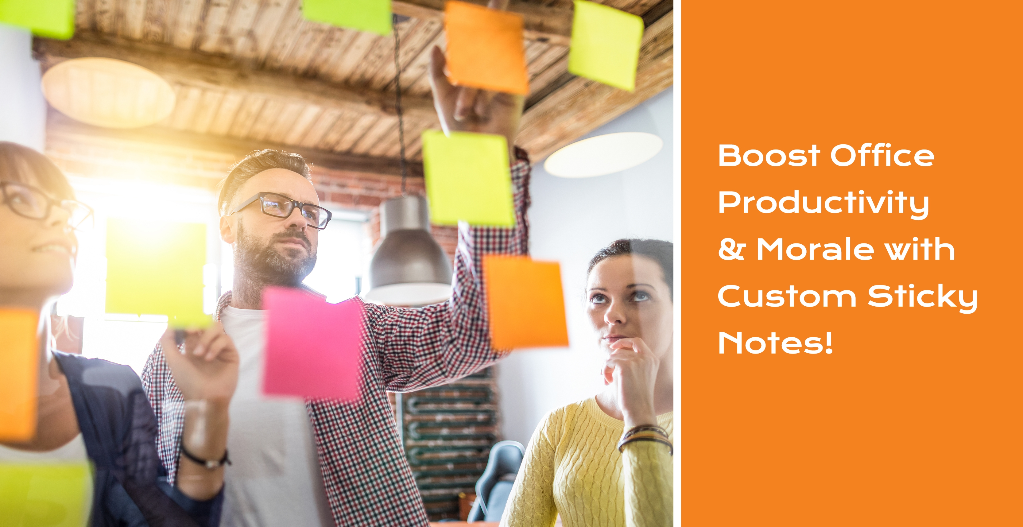 Boost office productivity with sticky notes