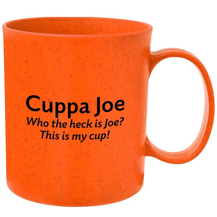 Eco friendly wheat coffee mug with funny saying