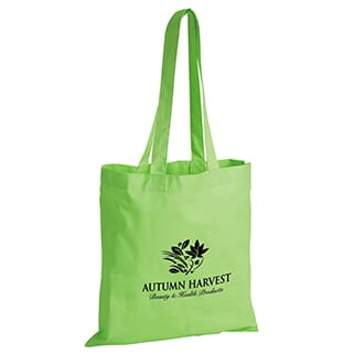 Bright green shopping tote bag