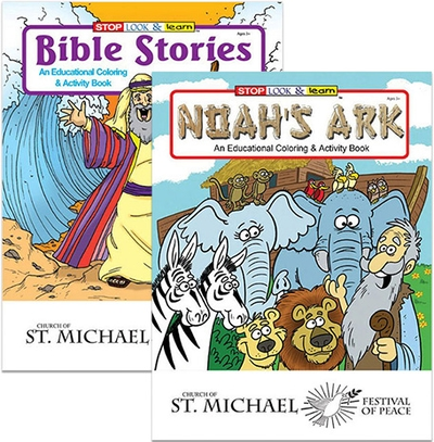 Bible stories activity books