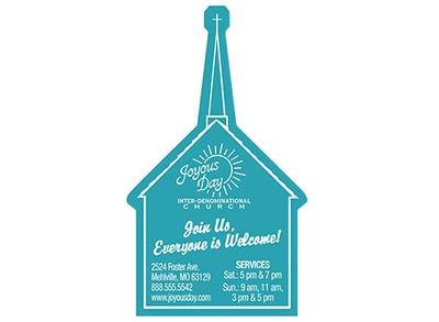 Blue church magnet