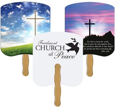 Church hand fans