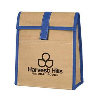 eco-woven paper lunch bag